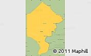 Savanna Style Simple Map of Bermejo