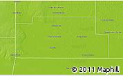 Physical 3D Map of Fray Justo Santa Maria de