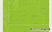 Physical Map of Fray Justo Santa Maria de