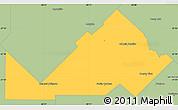 Savanna Style Simple Map of Libertad