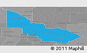 Political Panoramic Map of Libertador General San Ma, desaturated