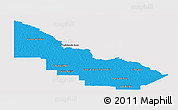 Political Panoramic Map of Libertador General San Ma, single color outside