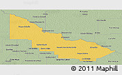 Savanna Style Panoramic Map of Libertador General San Ma