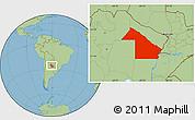 Savanna Style Location Map of Chaco