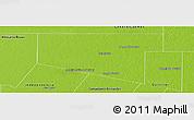 Physical Panoramic Map of Maipu