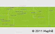 Physical Panoramic Map of Mayor Luis J. Fonta