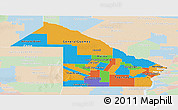 Political Panoramic Map of Chaco, lighten