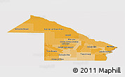 Political Shades Panoramic Map of Chaco, cropped outside