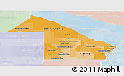 Political Shades Panoramic Map of Chaco, lighten