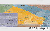 Political Shades Panoramic Map of Chaco, semi-desaturated