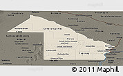 Shaded Relief Panoramic Map of Chaco, darken