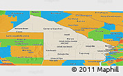 Shaded Relief Panoramic Map of Chaco, political outside