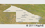 Shaded Relief Panoramic Map of Chaco, satellite outside