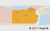 Political Panoramic Map of San Fernando, lighten
