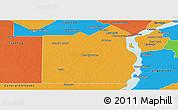 Political Panoramic Map of San Fernando