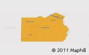 Political Panoramic Map of San Fernando, single color outside