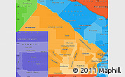 Political Shades Simple Map of Chaco
