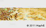 Physical Panoramic Map of Cushamen