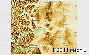 Physical 3D Map of Futaleufu