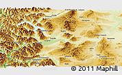 Physical Panoramic Map of Futaleufu