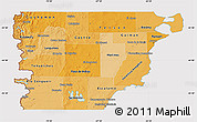 Political Shades Map of Chubut, cropped outside