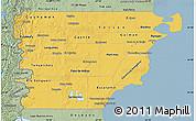 Savanna Style Map of Chubut
