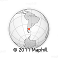 Outline Map of Chubut