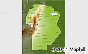 Physical 3D Map of Cordoba, darken