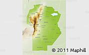 Physical 3D Map of Cordoba, lighten