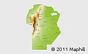 Physical 3D Map of Cordoba, single color outside