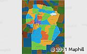 Political 3D Map of Cordoba, darken