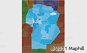 Political Shades 3D Map of Cordoba, darken