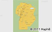 Savanna Style 3D Map of Cordoba, single color outside