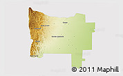 Physical 3D Map of Colon, cropped outside