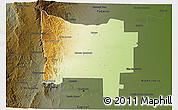 Physical 3D Map of Colon, darken