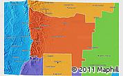 Political 3D Map of Colon