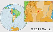Political Location Map of Colon