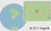 Savanna Style Location Map of Colon