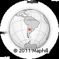 Outline Map of Cruz Del Eje
