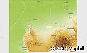 Physical Panoramic Map of Cruz del Eje