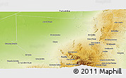 Physical Panoramic Map of Ischilin