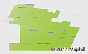 Physical Panoramic Map of Juarez Celman, single color outside