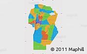 Political Map of Cordoba, cropped outside