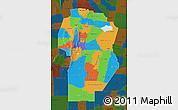 Political Map of Cordoba, darken