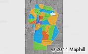 Political Map of Cordoba, desaturated