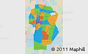 Political Map of Cordoba, lighten