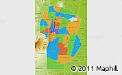 Political Map of Cordoba, physical outside