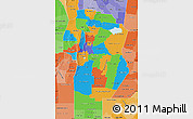 Political Map of Cordoba, political shades outside