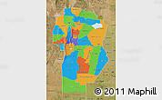 Political Map of Cordoba, satellite outside