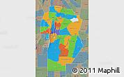 Political Map of Cordoba, semi-desaturated
